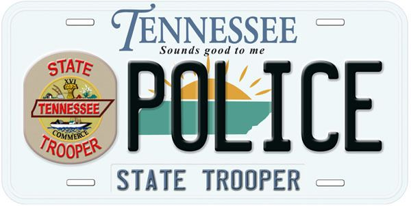 Tennessee State Police Novelty Car Auto License Plate